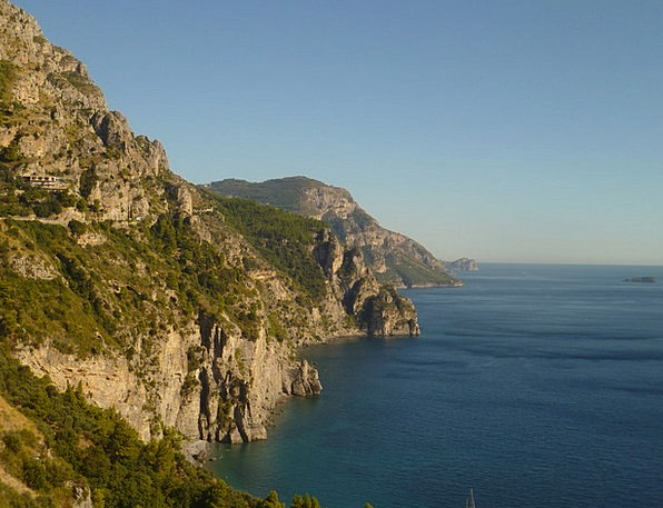 Cliff Precipice Landscapes Nature Coast Shore Ital