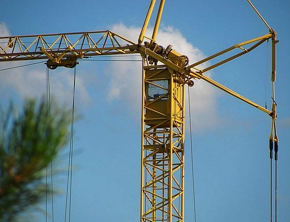 Crane Hoist Machine Mechanism Construction Site Eq