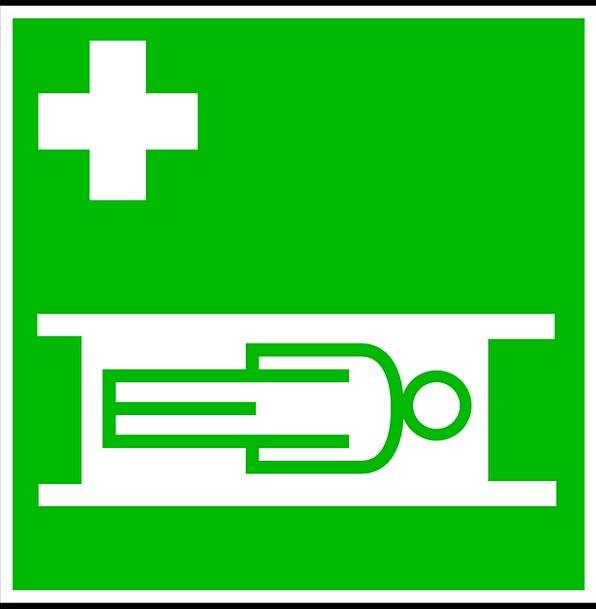 Sign Symbol Medical Health Ambulance Stretcher Cli