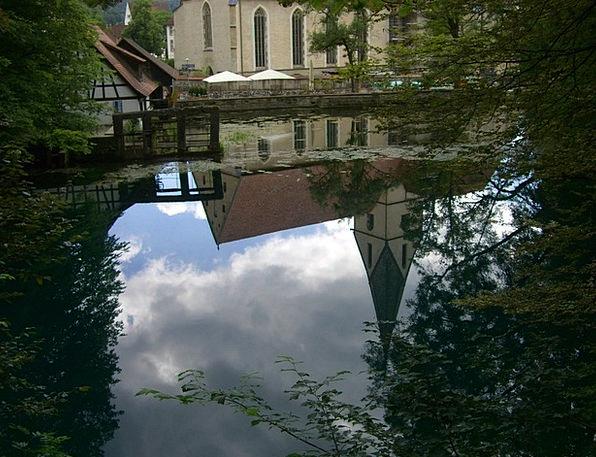 Blautopf Reflecting Water Aquatic Mirroring Blaube