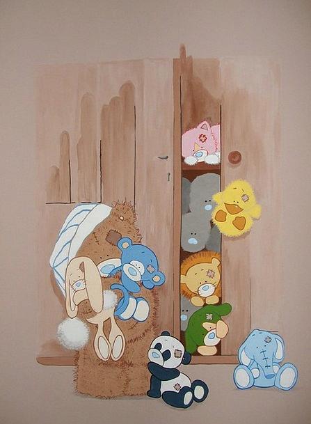 Wall Painting Fresco Teddy Bear Teddy Plush Teddy