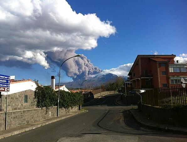 Mountain Crag Landscapes Nature Ash Residue Etna S