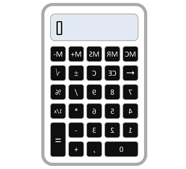 Calculator Adder Secretarial Number Amount Account