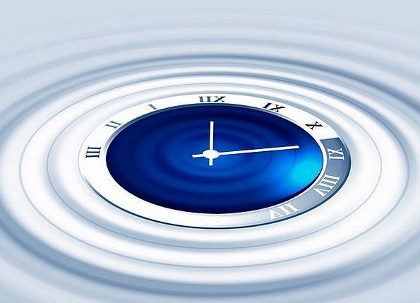 Clock Timepiece Upsurge Period Retro Wave Minutes