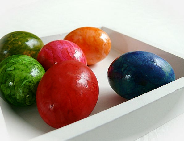 Easter Eggs Interesting Easter Colorful Colored Ti