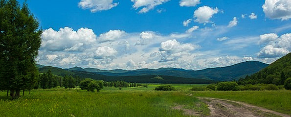 Prairie Steppe Landscapes Countryside Nature Chife