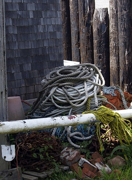 Ropes Riggings Remaining Fishing Equipment Net Old