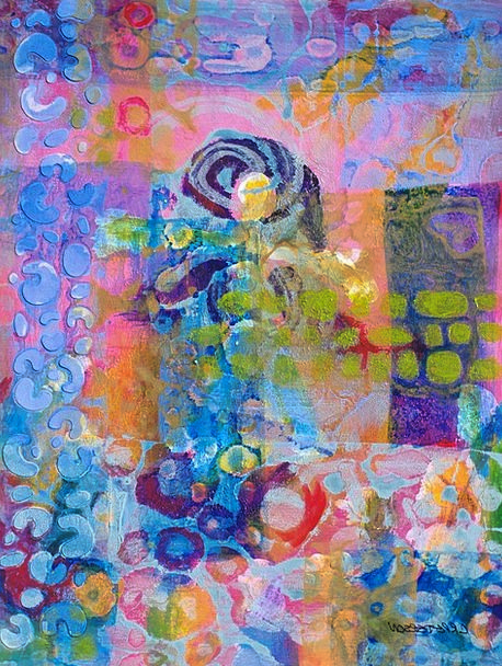 Abstract Art Colorful Interesting Acrylic Painting