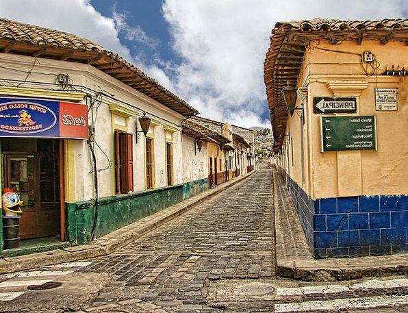 Cobblestone Street Central America Guatemala Tiled