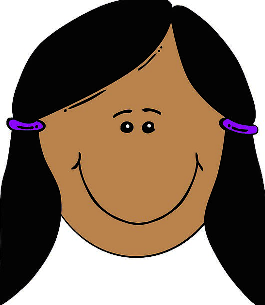 Girl Lassie Expression Black Hair Face Pigtails Po