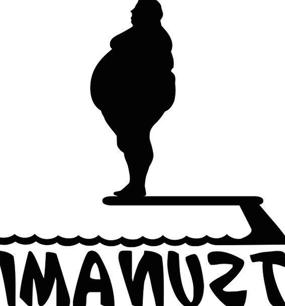 Fat Gentleman Jump Hurdle Man Funny Humorous Sport