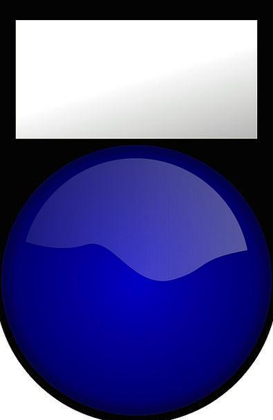 Tag Label Sticker Button Key Push Button Blue Ligh