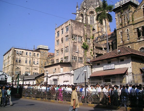 India Bombay Mumbai Crowd Troop Human Many Humanoi