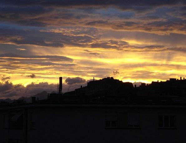 Sky Blue Beginning Sunrise Dawn Clouds Vapors Sun
