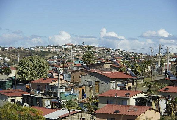 Slum Shantytown Landscapes Sheds Nature Poverty La