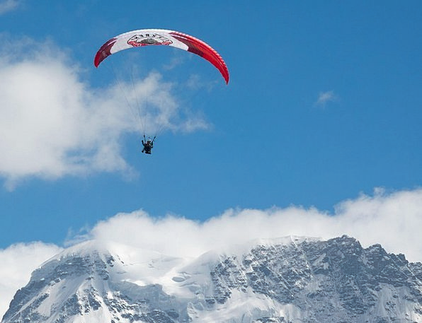 Paragliding Pilot Experimental Paraglider Alpine F