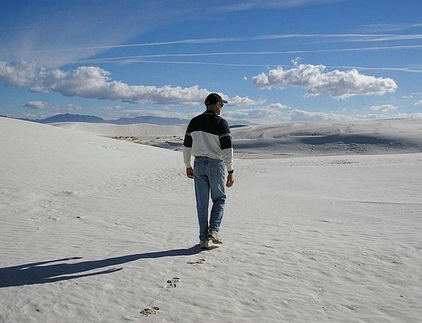 White Sands Sand Shingle New Mexico Scenic Picture