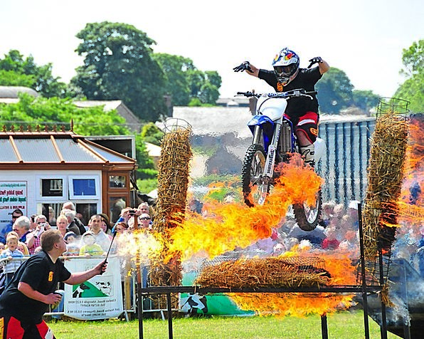 Fire Passion Motorbikes Jump Hurdle Motorcycles St