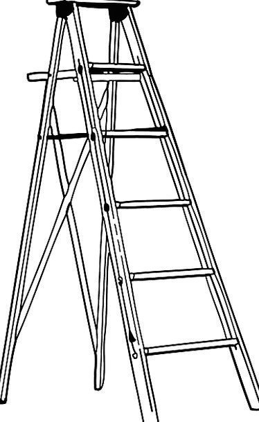 Ladder Ranking Foldable Aluminium Metal Metallic F