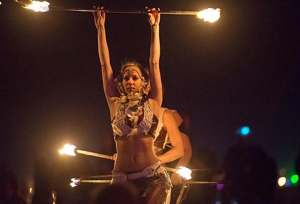 Fire Dancer Fashion Passion Beauty Woman Lady Fire