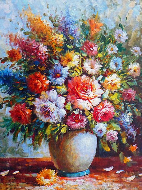 Oil Painting Image Copy Painting Art Colorful Artw
