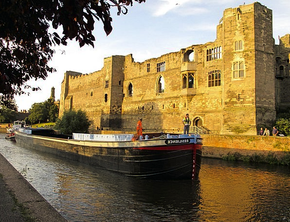 Barge Rush Vessel Boat Ship Castle Fortress Canal