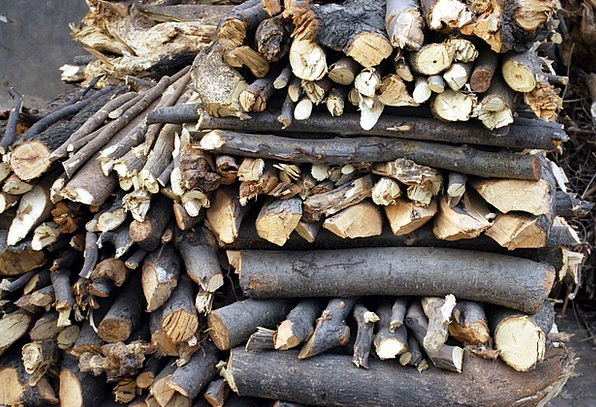 Woodpile Kindling Stacked Loaded Firewood Stack He