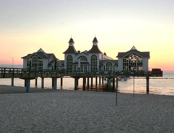 Sea Bridge Vacation Dawn Travel Baltic Sea Sunrise
