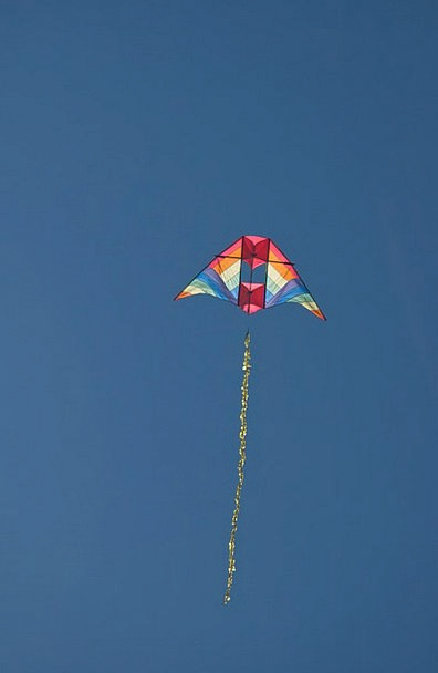 Kite Blue Fly Hover Sky Toy Doll Autumn Fall