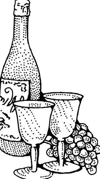 Wine Mauve Goblet Grapes Wineglass Merlot Free Vec