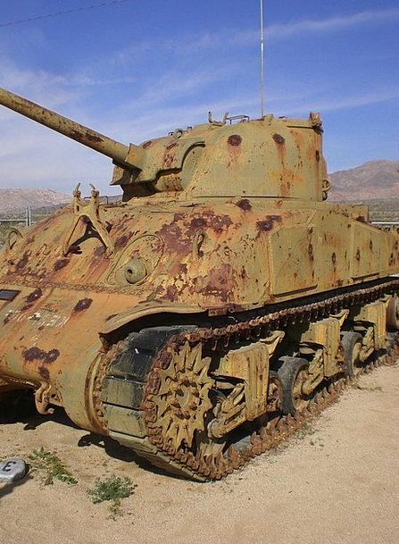 Sherman Tank Armed Military Vehicle Military Ww2