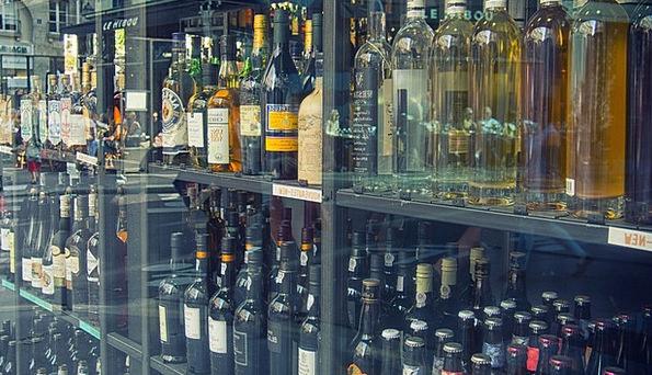 Wine Shop Mauve Alcohol Liquor Wine Bottle Flask S