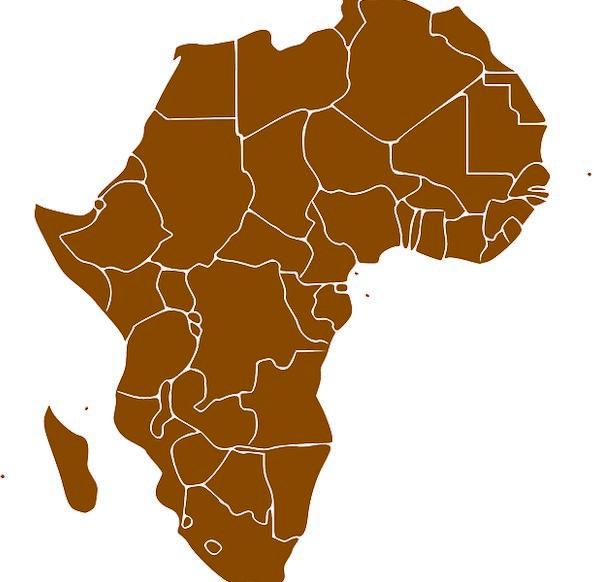 Africa Landmass Map Chart Continent Brown Chocolate States - Mapchart