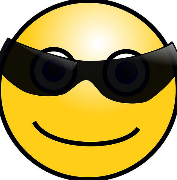 Smiley Smiling Shades Face Expression Sunglasses C