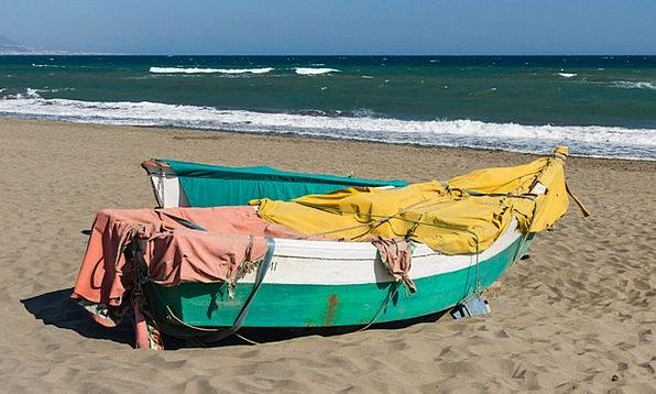 Fishing Boat Vacation Seashore Travel Sand Shingle