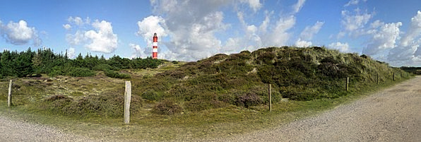 Lighthouse View Amrum Panorama Island Isle Daymark