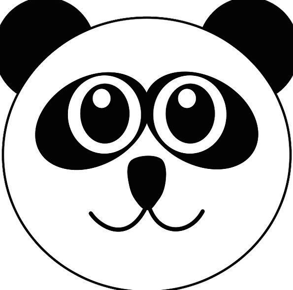 Panda Skull Cute Attractive Head Isolated Cartoon