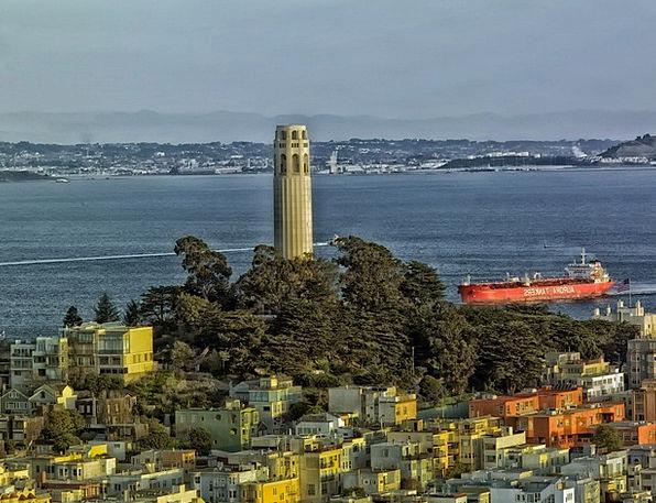 San Francisco Monuments Places Coit Tower Californ