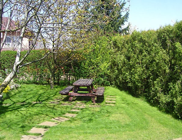 Garden Plot Winter Season Picnic Table Rest Garden