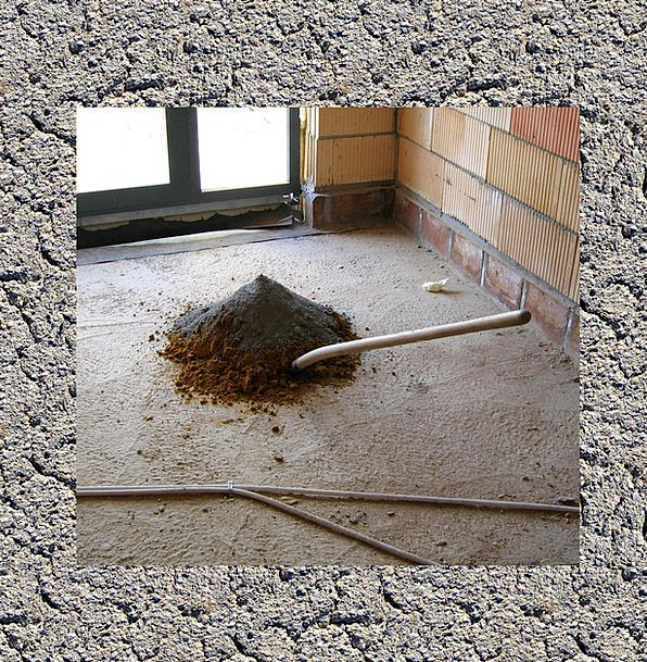 Concrete Real Adhesive Site Place Cement Floor Gre