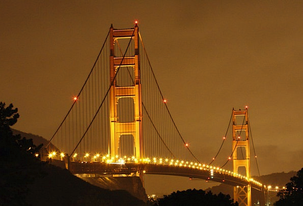 San Francisco Monuments Places Suspension Bridge V