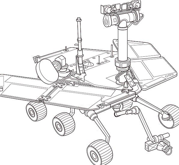 Mars Defaces Nomad Exploration Examination Rover S