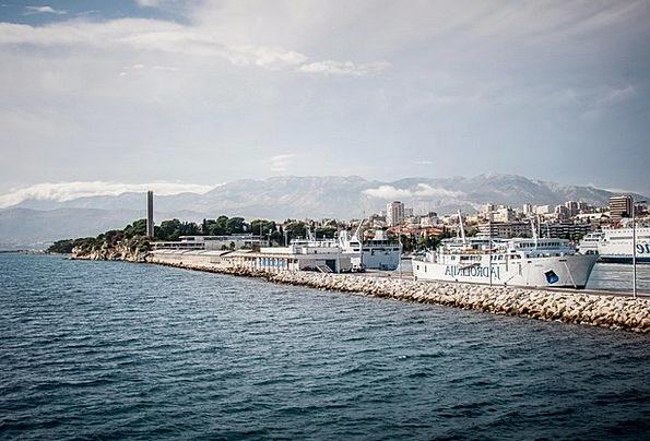 Croatia Riven Dalmatia Split Steamboat Sea Ships M
