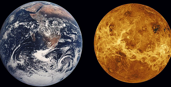 Venus, Soil, Size Comparison, Earth, Planet, Space, Space Travel,  Interplanetary | PixCove