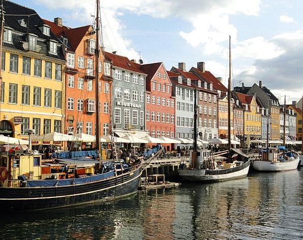 Copenhagen Canal Waterway Denmark Waterfront Water