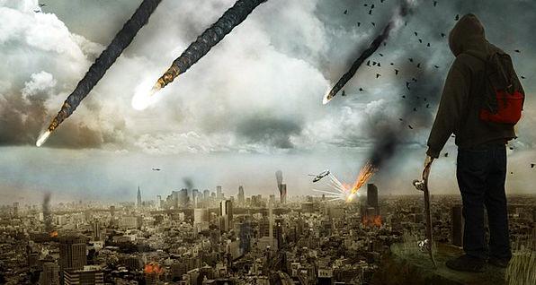 Apocalyptic Conflict Danger Hazard War Meteor Apoc