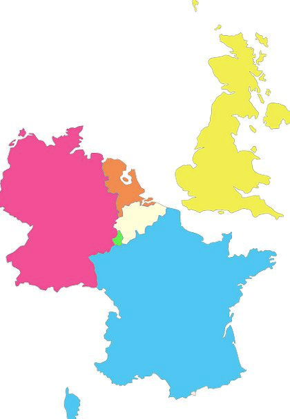 Geography Topography Netherlands Europe Neighbours