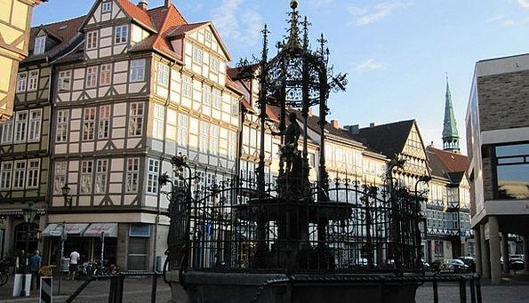Hanover Nikolai Fountain Old Town Germany