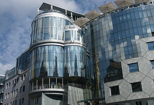 Vienna Buildings Structure Architecture Glass Cut-