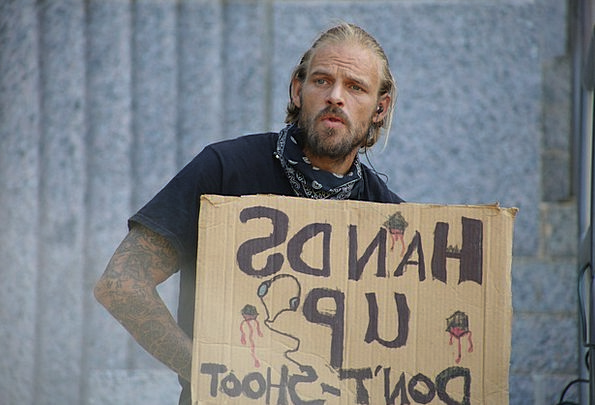 Protest Complaint Gentleman Outside Outdoor Man Ju